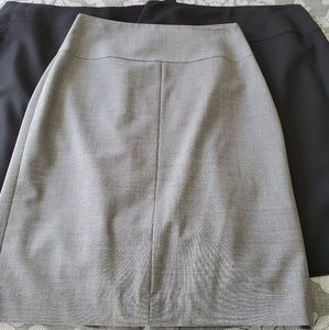 3 Banana Republic pencil skirts black/gray sz 4
